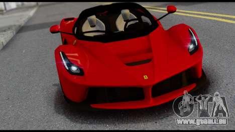 Ferrari LaFerrari 2014 (IVF) pour GTA San Andreas vue intérieure