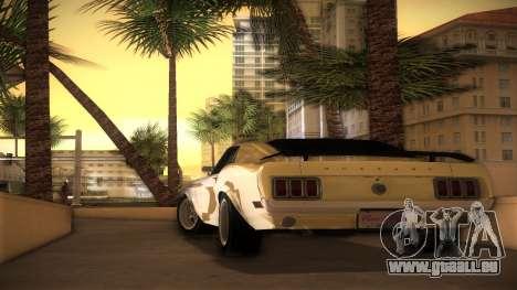 Ford Mustang 492 pour une vue GTA Vice City de la gauche