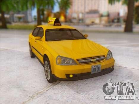 Chevrolet Evanda Taxi pour GTA San Andreas vue de côté