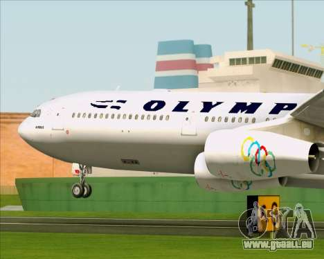 Airbus A340-313 Olympic Airlines für GTA San Andreas Seitenansicht