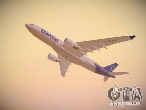 Airbus A330-200 Air Transat pour GTA San Andreas vue de côté