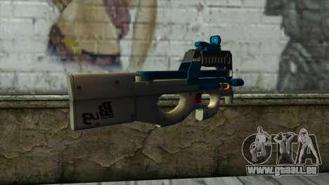 P90 from PointBlank v5 für GTA San Andreas zweiten Screenshot