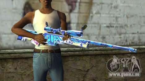 Graffiti Sniper Rifle v2 pour GTA San Andreas troisième écran