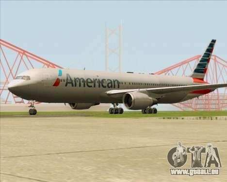 Boeing 767-323ER American Airlines pour GTA San Andreas vue de droite