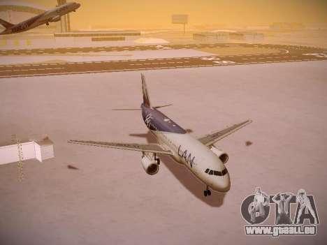 Airbus A320-214 LAN Airlines 80 Years pour GTA San Andreas vue de côté