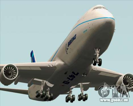 Boeing 747-8 Cargo House Livery pour GTA San Andreas vue de droite