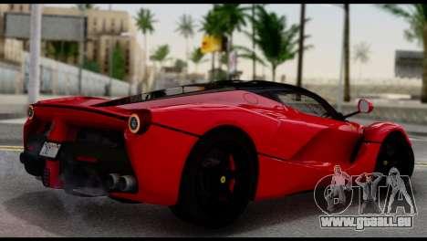 Ferrari LaFerrari 2014 (IVF) pour GTA San Andreas laissé vue
