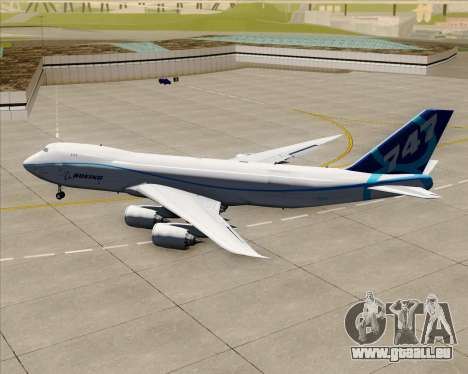 Boeing 747-8 Cargo House Livery pour GTA San Andreas vue arrière