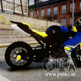 Yamaha R1 2007 Stunt für GTA 4 linke Ansicht