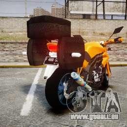 Yamaha V-ixion 150cc für GTA 4 hinten links Ansicht
