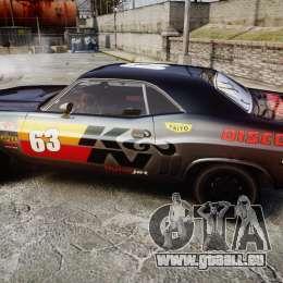 Dodge Challenger 1971 v2.2 PJ8 pour GTA 4 est une gauche