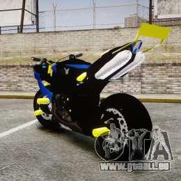 Yamaha R1 2007 Stunt pour GTA 4 Vue arrière de la gauche