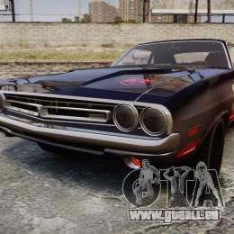 Dodge Challenger 1971 v2.2 PJ8 pour GTA 4