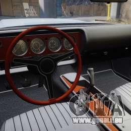 Dodge Challenger 1971 v2.2 PJ8 pour GTA 4 Vue arrière