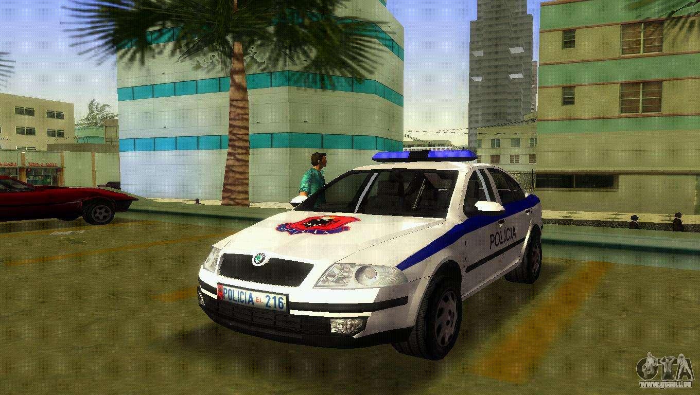skoda octavia albanian police car pour gta vice city. Black Bedroom Furniture Sets. Home Design Ideas