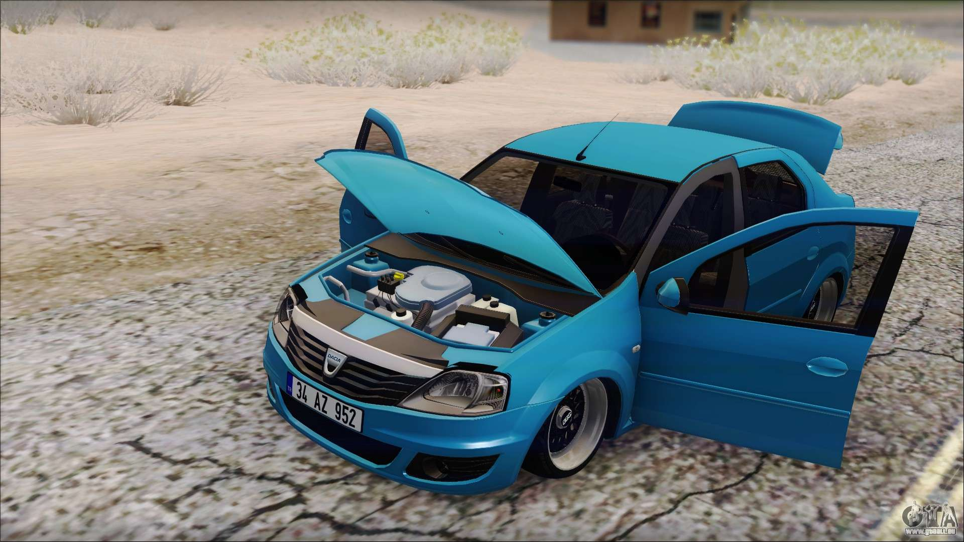 Dacia logan bs garage pour gta san andreas for Garage dacia bruay la buissiere