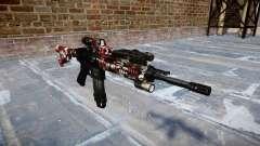 Fusil automatique Colt M4A1 sont injectés de san