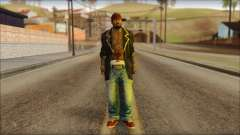 New Grove Street Family Skin v1 pour GTA San Andreas