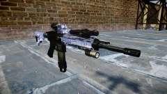 Automatische Gewehr Colt M4A1 blue tiger für GTA 4