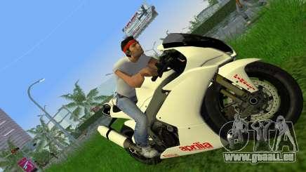 Aprilia RSV4 2009 White Edition II für GTA Vice City