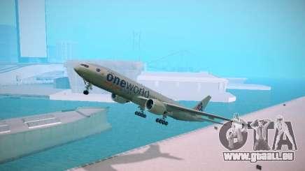 Boeing 777-223ER American Silver Bullet für GTA San Andreas