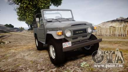 Toyota FJ40 Land Cruiser Soft Top 1978 pour GTA 4
