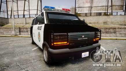 Declasse Burrito Police Transporter ROTORS [ELS] für GTA 4