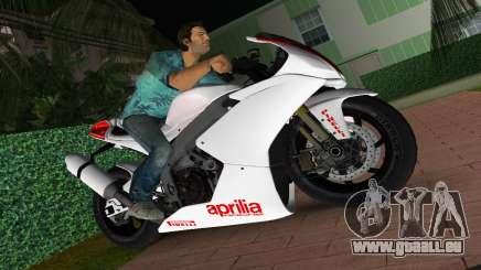 Aprilia RSV4 2009 White Edition I für GTA Vice City