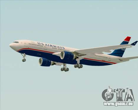 Airbus A330-200 US Airways für GTA San Andreas Unteransicht