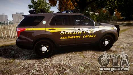 Ford Explorer 2013 Sheriff [ELS] Virginia für GTA 4 linke Ansicht