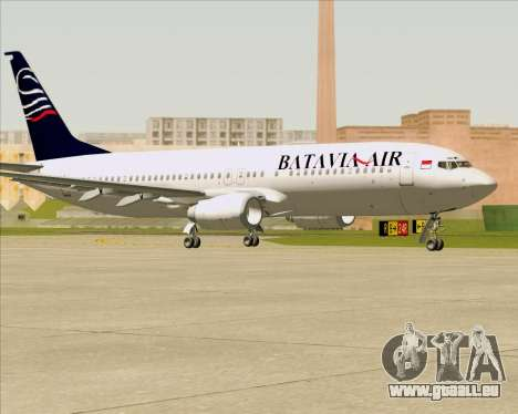 Boeing 737-800 Batavia Air für GTA San Andreas zurück linke Ansicht