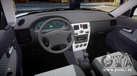 ВАЗ-2170 Installé Avant pour GTA 4 est une vue de l'intérieur