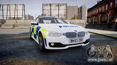 BMW 335i 2013 Central Motorway Police [ELS] pour GTA 4
