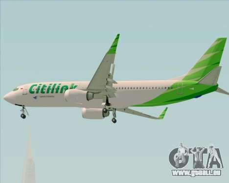 Boeing 737-800 Citilink pour GTA San Andreas vue de dessus