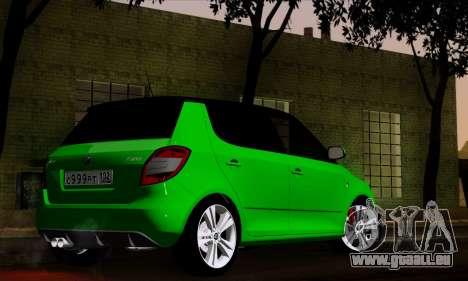 Skoda Fabia RS pour GTA San Andreas laissé vue