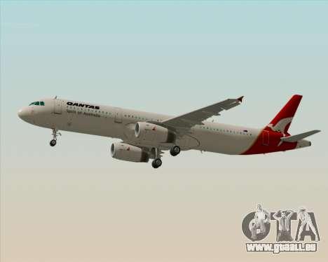 Airbus A321-200 Qantas für GTA San Andreas zurück linke Ansicht