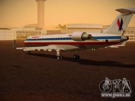 Bombardier CRJ-700 American Eagle pour GTA San Andreas vue de droite
