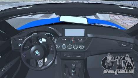 BMW Z4 sDrive28i 2012 Stock pour GTA San Andreas sur la vue arrière gauche