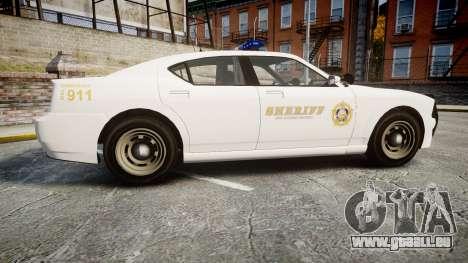 GTA V Bravado Buffalo LS Sheriff White [ELS] für GTA 4 linke Ansicht