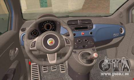 Fiat 500 Abarth 2008 pour GTA San Andreas sur la vue arrière gauche