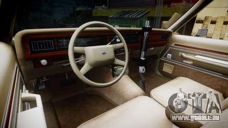 Ford LTD Crown Victoria 1987 LAPD [ELS] pour GTA 4 Vue arrière