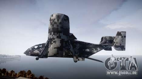 VTOL Warship PJ2 pour GTA 4 est une gauche