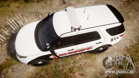 Ford Explorer 2013 LC Sheriff [ELS] pour GTA 4 est un droit