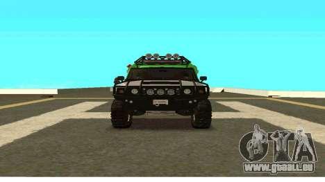 Hummer H2 Ratchet Transformers 4 pour GTA San Andreas vue arrière