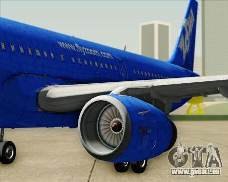 Airbus A321-200 Zoom Airlines für GTA San Andreas Motor