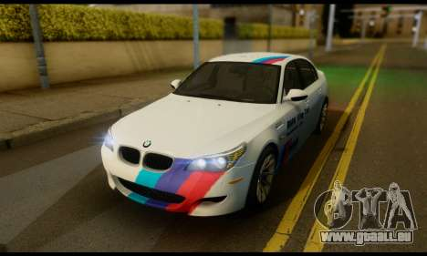 BMW M5 E60 2006 pour GTA San Andreas vue intérieure