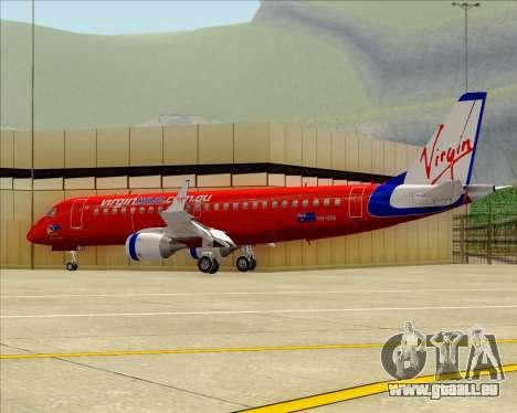 Embraer E-190 Virgin Blue pour GTA San Andreas vue intérieure