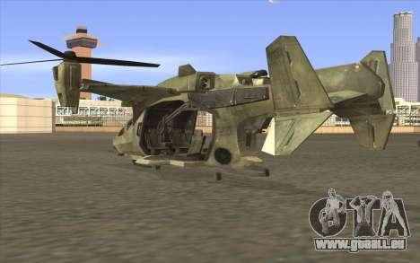 HELO4 Future Hunter pour GTA San Andreas laissé vue
