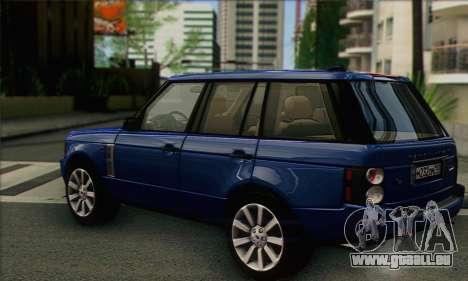 Range Rover Supercharged für GTA San Andreas linke Ansicht