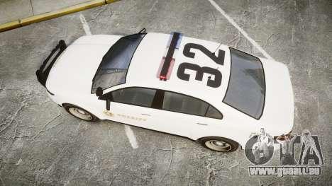 GTA V Vapid Interceptor LSS White [ELS] für GTA 4 rechte Ansicht